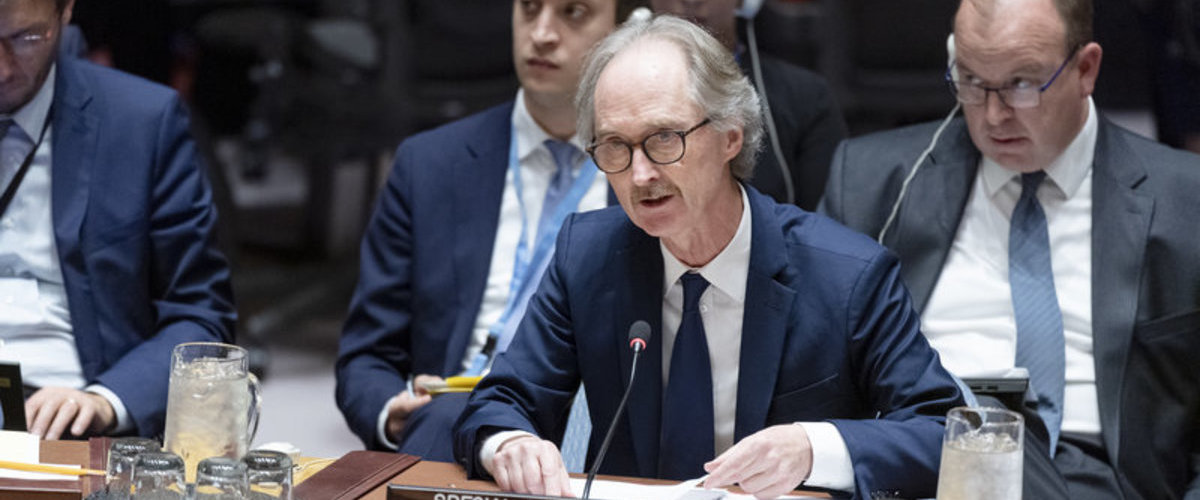United Nations Special Envoy for Syria Mr. Geir O. Pedersen Briefs the Security Council