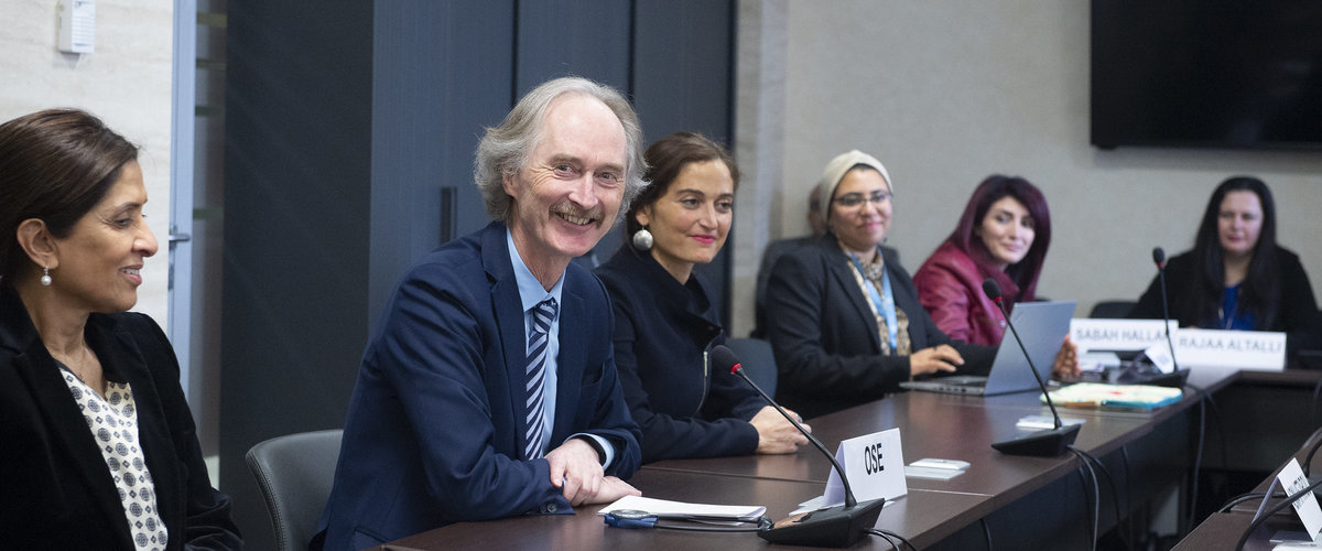 United Nations Special Envoy for Syria Geir O. Pedersen meets the Syrian Women's Advisory Board