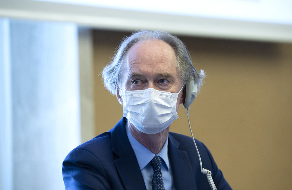 Geir O. Pedersen, United Nations Special Envoy for Syria attends the Syrian Constitutional Committee, Geneva. 29 August 2020. UN Photo / Violaine Martin