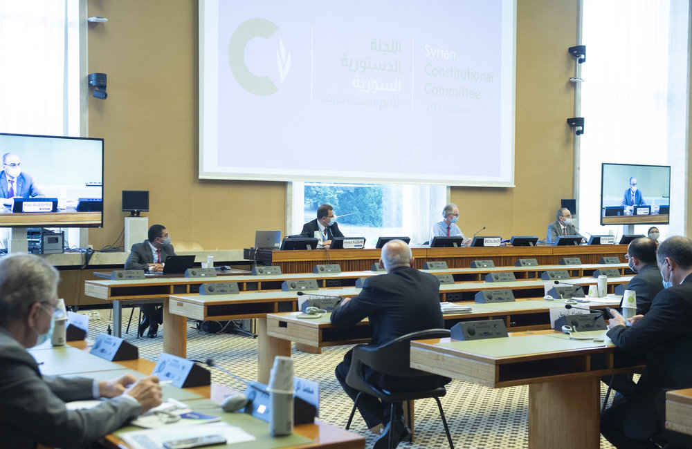 Syrian Constitutional Committee, Geneva. 28 August 2020. UN Photo / Violaine Martin
